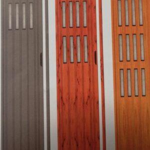 Πόρτες φυσαρμόνικα με τζάμι